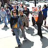 March for Our Lives participants of all ages make their way down Main Street on Saturday during a companion march to the national March for Our Lives rally in Washington D.C.<br /> Globe | Laurie Sisk