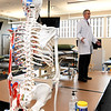 Dr. Jay Danto familiarizes accepted students and their guests with the Osteopathic Manipulative Medicine Lab at Kansas City University during Accepted Students Day at KCU on Saturday.<br /> Globe | Laurie Sisk