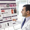 Student doctor Ashkon Nehzati discusses his research into alternatives to stents during the 26th Annual Kansas City University Research Symposium on Wednesday at KCU. <br /> Globe | Laurie SIsk