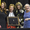 From the left: Annie Baxter Award nominees Stephanie Brady, executive director of the Community Clinic of Southwest Missouri, Judge Gayle Crane, the first female circuit court judge in Joplin, Marilyn Ruestman, presiding commissioner of Newton County and 2018 Annie Baxter Award winner Alison Malinowski Sunday , executive director of the Lafayette House, pose for a photo during the Annie Baxter Award Ceremony on Wednesday at Missouri Southern.<br /> Globe | Laurie Sisk
