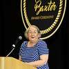 Annie Baxter Award winner and Executive Director of the Lafayette House Alison Malinowski Sunday addresses guests during the Annie Baxter Award Ceremony on Wednesday at Missouri Southern.<br /> Globe | Laurie Sisk