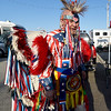 Senior Vice President of the Marine Corps League Robert Alexander stands in colorful patriotic dress during Rodeo Miami on Saturday at the Miami Fairgrounds. Alexander, a Creek indian, served as a Marine for more than 3 decades.<br /> Globe | Laurie Sisk