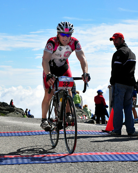 Austin Orth, of North Conway, NH, finished 7th, in The 5th Annual Newton's Revenge bicycle race, held on July 11th, with a time of 1:04:05. The event, up the 7.6 mile Mt. Washington Auto Road course, was won by 32 year old Tom Danielson, of Boulder, Colorado, with a time of 49.32.