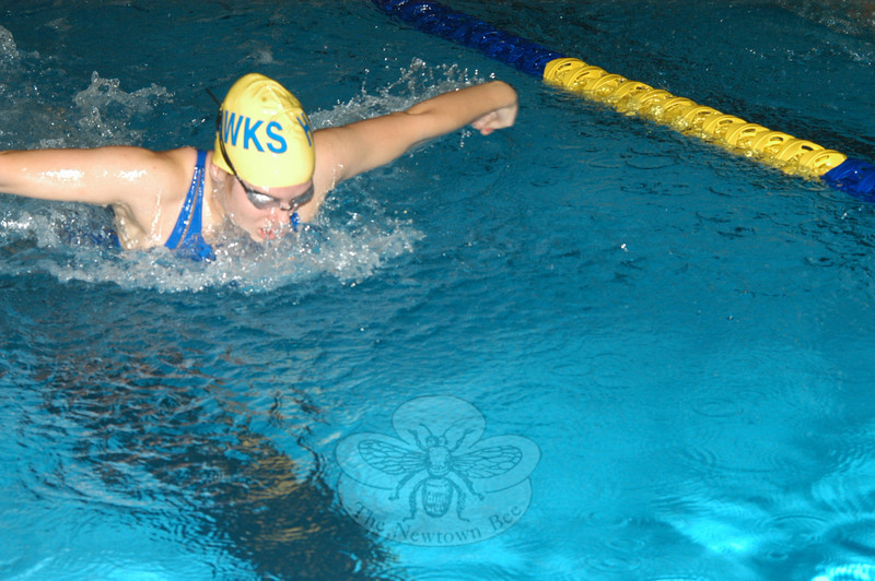 Newtown High School's girls' swimming and diving team, after a pair of losses to begin the campaign, won three straight — topping Weston, Oxford and Brookfield. (Andy Hutchison photo)