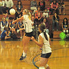 The NHS girls' volleyball team blanked New Fairfield 3-0 (25-10, 25-12 and 25-15) on October 5, giving the Nighthawks their fourth straight win after a 1-2 start. (Andy Hutchison photo)
