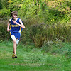 Jake Feinstein, a freshman on the NHS boys' cross country team, was the school's first finisher in his team's meet on October 6. He became the first Newtown High freshman since the 1990s to pace the Nighthawks in a meet. The boys' team defeated Joel Barlow and lost to Pomperaug and the girls defeated Barlow and Pomperaug. (Andy Hutchison photo)