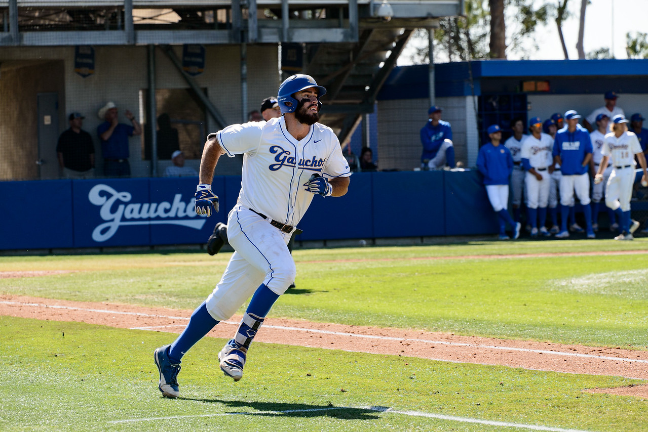 Austin Bush hits a homer in the bottom of the 3rd, bringing the Gauchos up 3-0.