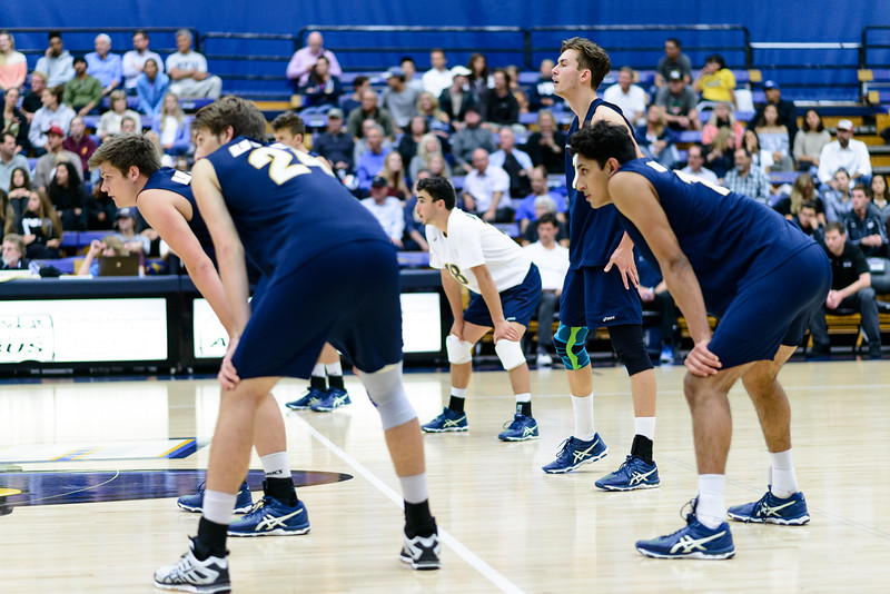 The Gauchos stand ready for serve receive.