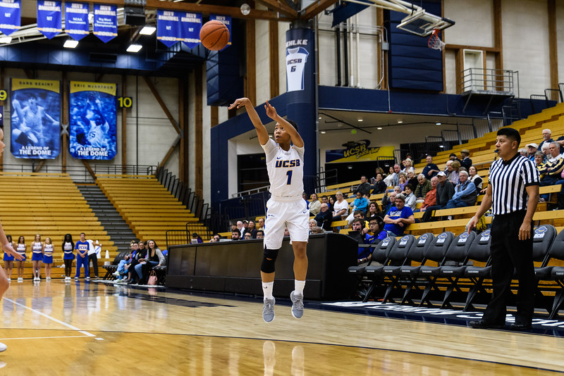 Drea Toler takes a shot from the 3-point line