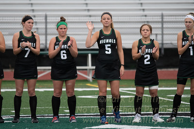 Nichols Field Hockey versus University of New England (UNE) loses 3-0 on September 21, 2018