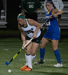 Liza Phillips steals the ball during Nichols Field Hockey vs Western New England in a 3-2 loss at WNE in Springfield, MA