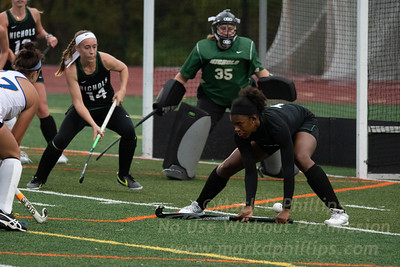Nichols College Field Hockey defeats Western New England University on October 22, 2019.