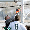 Niwot High School goalkeeper Jack Fitzgerald makes a save during a game against Denver West High School on Thursday, Oct. 25, at Frederick High School.<br /> Jeremy Papasso/ Camera