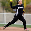 "Niwot High School's Raven Baca makes an out at second base during a game against Wheat Ridge High School on Saturday, Oct. 20, at the Aurora Sports Park in Aurora. Niwot won the game 1-0. For more photos of the game go to  <a href=""http://www.dailycamera.com"">http://www.dailycamera.com</a><br /> Jeremy Papasso/ Camera"