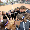 "The Niwot High School varsity girls softball team does a chant at the start of a game against Wheat Ridge High School on Saturday, Oct. 20, at the Aurora Sports Park in Aurora. Niwot won the game 1-0. For more photos of the game go to  <a href=""http://www.dailycamera.com"">http://www.dailycamera.com</a><br /> Jeremy Papasso/ Camera"