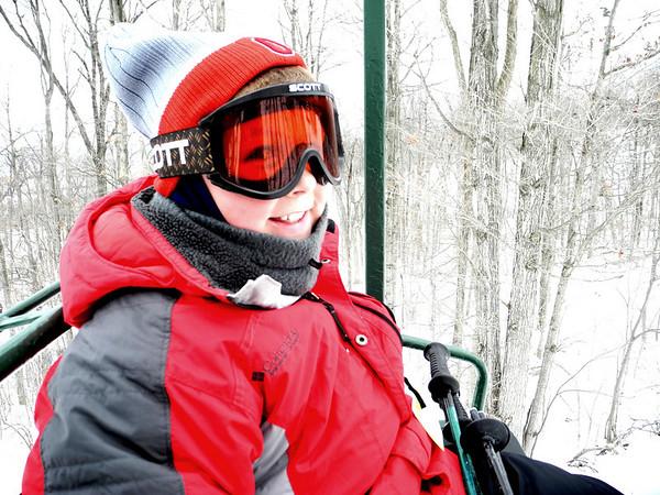 Nolan Skiing on January 27, 2011