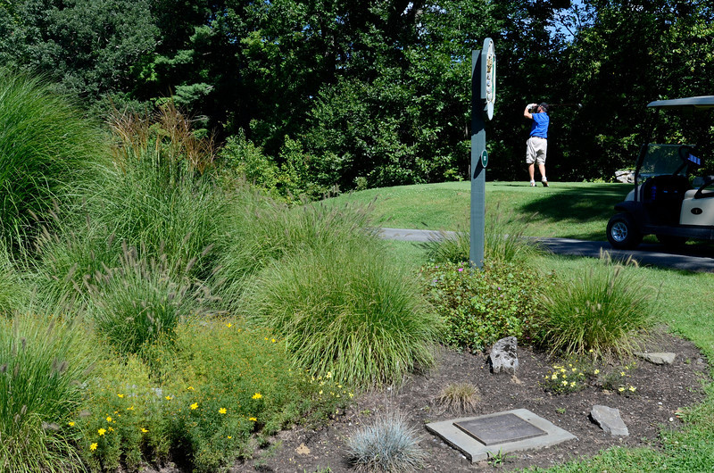 Mary Winchester memory Garden at the 14th tee at The Normanside Country Club on 150 Salisbury Road in Delmar, NY. Wednesday 09/04/13.  (Mike McMahon / The Record)