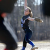 Methuen starting pitcher Kayleigh Forgetta delivers to a North Andover batter.