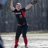 North Andover pitcher Paige Ahlholm delivers to a Methuen batter.