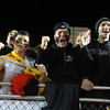 AMY SWEENEY/Staff photo<br /> North Andover fans celebrate the Scarlet Knights 3-1 win against Concord- Carlisle in the Division 2 final at the Manning Bowl in Lynn last night.