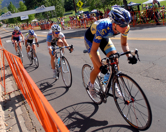 "Megan Hottman, right,  eventually won  the women's pro race of the North Boulder Park Classic on Saturday.<br /> For more photos of both pro men and women, go to  <a href=""http://www.dailycamera.com"">http://www.dailycamera.com</a><br />  Cliff Grassmick / July 10, 2010"