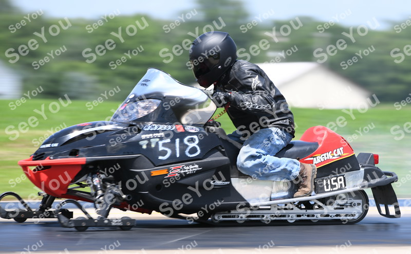 -Messenger photo by Britt Kudla<br /> Darren Sonnek of Albert Lea, Minnesota compete during North Iowa Drag racing in Humboldt on Saturday