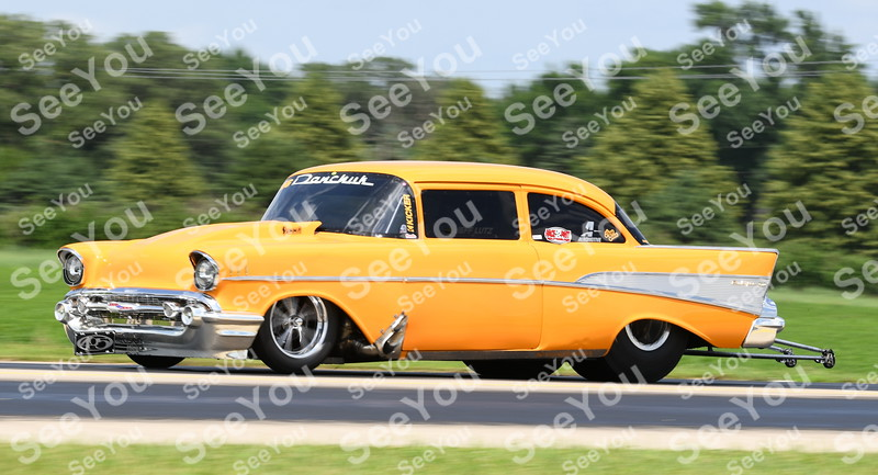 -Messenger photo by Britt Kudla<br /> Jeff Lutz of Oklahoma tries to break the all-time track record during North Iowa Drag racing on Saturday in Humboldt