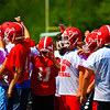 The North Middlesex football team was hard at work during Monday's conditioning practice on day 3 of the preseason. Nashoba Valley Voice/Ed Niser