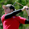 "Amy Carlson of Fairview hits off the 10th tee.<br /> The 5A Northern Girls Golf Regional was played at Coal Creek Golf Course in Louisville. <br /> For more photos of the high school golf, go to  <a href=""http://www.dailycamera.com"">http://www.dailycamera.com</a>.<br /> Cliff Grassmick/ May 10, 2011"