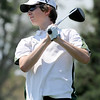 Luke Toillion, of Niwot High School, tees off at hole 2 during the Northern League Golf Tournament on Friday.<br /> Cliff Grassmick  / August 10, 2012