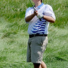 Seth Dykema, of Longmont High School, hits toward hole one  during the Northern League Golf Tournament on Friday.<br /> Cliff Grassmick  / August 10, 2012
