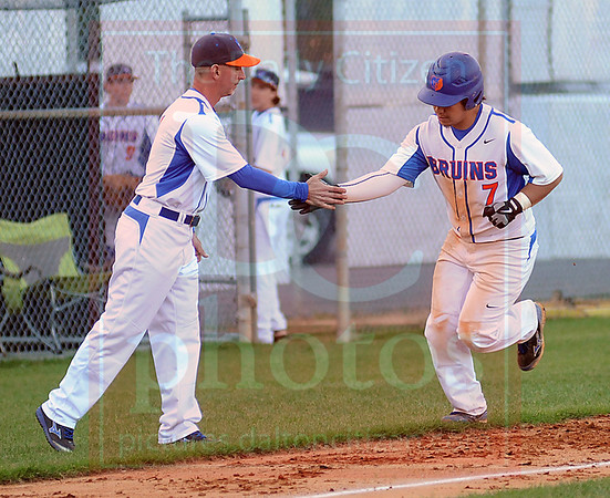 Matt Hamilton/The Daily Citizen<br /> NW7 rounds the bases after hitting a solo homer Thursday.