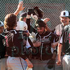Matt Hamilton/The Daily Citizen<br /> SE5 celebrates as he crosses homeplate after hitting a homerun.