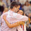Matt Hamilton/The Daily Citizen<br /> NW24 hugs her coach with seconds left on the clock as NW wins Friday.