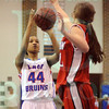 Matt Hamilton/The Daily Citizen<br /> N44 puts up a shot as D40 defends Thursday.