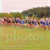 Matt Hamilton/The Daily Citizen<br /> Cross country runners start the girls race Tuesday at Edwards Park.