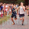 Matt Hamilton/The Daily Citizen<br /> CC Sadoth Fraire sprints out the last few feet of the 3.1 mile race with Gordon Lee's Dylan Smith Tuesday at Edwards Park. Smith won the race by a fraction of a second over Creek's Fraire.
