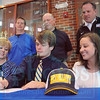 Matt Hamilton/The Daily Citizen<br /> Andy Whisenant signs his letter of intent Tuesday.
