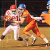Matt Hamilton/The Daily Citizen<br /> NW8 hits D21 and drives him backwards Friday.