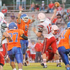 Matt Hamilton/The Daily Citizen<br /> NW8 gets his hands up in the face of LFO12, forcing an incompletion Friday.