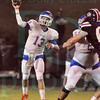 Matt Hamilton/The Daily Citizen<br /> NW13 stands in the pocket and makes the pass Friday.