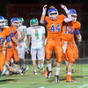 Matt Hamilton/The Daily Citizen<br /> NW44 celebrates after scoring a TD Friday.