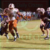 Matt Hamilton/The Daily Citizen<br /> NW23 breaks tackles on his way to his second TD Friday.