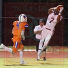 Matt Hamilton/The Daily Citizen<br /> SE7 makes a catch along the sidelines before beating NW4 to the endzone.