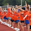 Matt Hamilton/Daily Citizen-News<br /> NW cheerleaders are joined by youngsters to cheer for the Bruins.