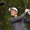 Matt Hamilton/The Daily Citizen<br /> D Jacob Brown tees off on #9 Saturday.
