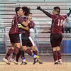 Matt Hamilton/The Daily Citizen<br /> SE players celebrate after scoring a second first-half goal Friday.