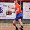 Matt Hamilton/The Daily Citizen<br /> Colbie Thomas throws a ball in from the outfield during practice Tuesday