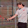 Matt Hamilton/The Daily Citizen<br /> D-Thomas Delay returns a shot during a doubles match with his partner Nicolas Nelson against NW Santiago Angel and James Zhong.