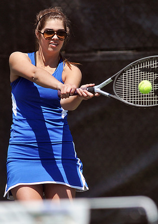 Matt Hamilton/The Daily Citizen<br /> NW Gracie Cansler competes Wednesday.